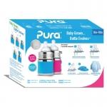Pura Biberon 150 ml Set de cadeau Aqua Pink | .