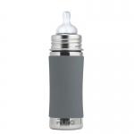 Pura Babyflasche 325 ml  Weithalssauger Grey | .