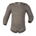 Engel Baby-Body Wolle/Seide Walnuss 75 | 62/68