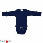 Manymonths Woll-Body/Shirt langarm Moonlight Blue | L