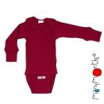 Manymonths Woll-Body/Shirt langarm Rasperry Red | XS