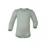 Engel Baby-Body Wolle/Seide Gletscher/Natur 3001 | 86/92