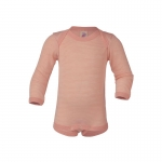 Engel Baby-Body Wolle/Seide Lachs/Natur 5001E | 74/80