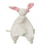 Hoppa Floppy Muslin Hearts white/pink