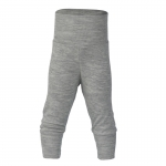 Pantalon à large ceinture laine/soie