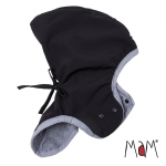 MaM Softshell-Elefantenmütze Black/Rock Grey | .