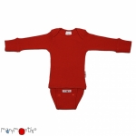 Manymonths Woll-Body/Shirt langarm Poppy Red | L