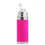 Pura Trinkhalm Isolierflasche 260 ml Pink | .