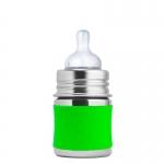 Pura Babyflasche 150 ml Weithalssauger Green   .