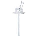 Pura PAILLE silicone Straw, clear