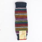 Wollstulpen jeans geringelt