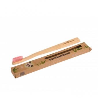 ecobamboo Brosse à dents adultes soft rosa